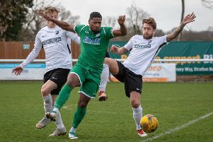 Sean Lucian of Biggleswade Town. Picture: Guy Wills