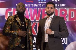 Terence Crawford (left) and Amir Khan