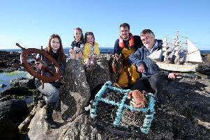 Shauna McFall from Naturally North Coast and Glens Artisan Market, Deputy Harbour Master Cary Aston, David Quinny Mee from Rathlin Community Development Association along with Sofia McAuley and �ibhleann Bailey are looking forward to the return of Rathlin Sound Maritime Festival which takes place from May 24 - June 2.�PICTURE STEVEN MCAULEY/MCAULEY MULTIMEDIA