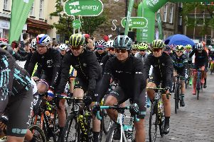 The cyclists setting off on the fourth stage of the OVO Energy Women's Cycling Tour.