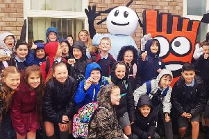 Pupils at Winslow Church of England Combined School launch their WOW walk to school challenge
