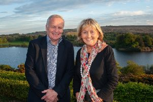 Charis Cancer Care Chair Dr Ben Glancy and Charis Cancer Care Patron Jenny Bristow BEM