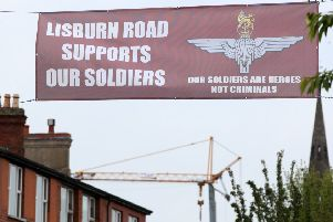 A Soldier Support Banner on the Lisburn Road in Belfast.