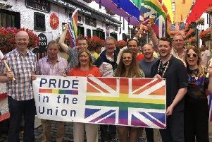 Members of the UUP who took part in the 2019 Belfast Pride parade