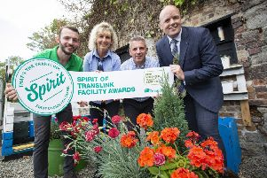 Pictured at the launch are Jamie Miller, Keep Northern Ireland Beautiful (left) with Translink's Bronagh McDonnell, Andy Bate and John Thompson