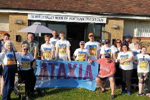 Ataxia UK supporters at Porstlade Cricket Club
