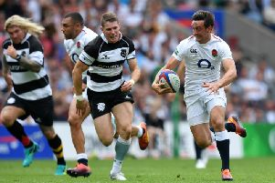 Alex Mitchell suffered a knee injury during an England XV victory against the Barbarians in June