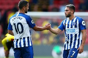 Neal Maupay and Florin Andone started against Southampton (Getty)