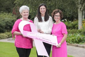 Kerry Beckett, Marketing Manager of its4women.co.uk and Action Cancer Ambassadors Donna McGavigan and Frances Jack launch the Breast Friends fundraising campaign, calling on friends everywhere to get together and raise funds for the charity's breast screening service. To get involved contact 9080 3347or email events@actioncancer.org