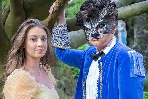 Year 14 students Caitlin Moore and Patrick McMullan starred as Belle'and the Beast