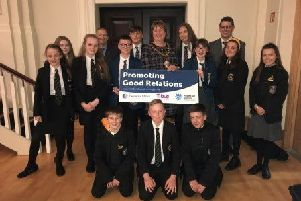 Students who attended the event pictured with the Mayor and Safet Vukalic.