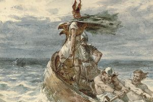 'Vikings Heading for Land' by Frank Dicksee