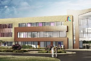 A computer-generated image of how the new SRC Banbridge Campus will look when complete.