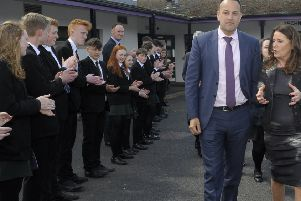 College students applauded Taoiseach Leo Varadkar TD during his walkabout �Edward Byrne Photography INBL1819-208EB
