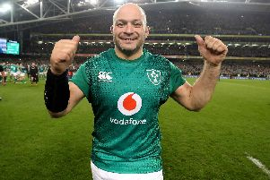 Rory Best, the current Ireland captain and a former Portadown College student, in Dublin following the win over New Zealand on Saturday.