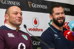 Rory Best and Defence Coach Andy Farrell
