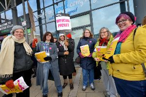 Strike action at East Sussex College in Hastings - photo by Justin Lycett