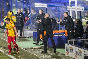 Keith Curle gives out the orders. Picture: Kirsty Edmonds