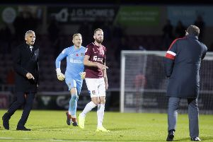 Crewe manager David Artell clashed with Cobblers striker Kevin van Veen after November's fixture at the PTS..