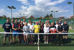 Senior players took part in an Angmering competition