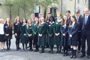 New-Bridge staff and pupils pictured at Glencree
