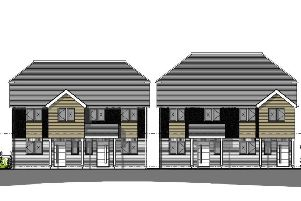 Front elevations of new homes planned in Thakeham
