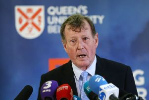 Lord David Trimble during an event to mark the 20th anniversary of the Good Friday Agreement, at Queen's University in Belfast last year. Photo: Brian Lawless/PA Wire
