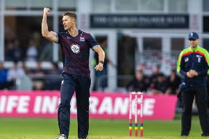 Dwaine Pretorius was in the wickets at Grace Road (pictures: Kirsty Edmonds)