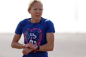 Emma Jolley was the first woman to cross the line at the Southsea parkrun last Saturday. Picture: Chris Moorhouse