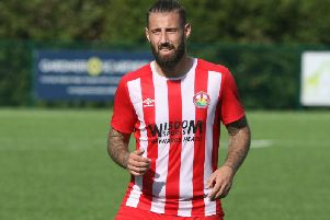 Steyning Town's Tiago Andrade. Picture by Derek Martin Photography