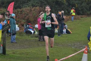 Matt Edmonds crossing the line to take first place. Picture courtesy of Simon Linklater