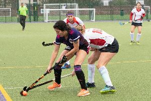 Sofia Gomez pictured in action during her two-goal performance against Basingstoke