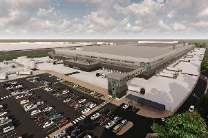 Computer Generated Image of Lidl's proposed Regional Development Centre near Houghton Regis