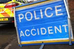 Police accident sign