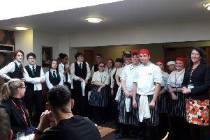 Banbury and Bicester College catering students cooked for 20 guests from the world of business NNL-181116-133439001