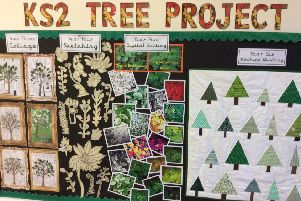 Thr tree, the scool's logo, was inspiration for some of the art work NNL-181221-143237001