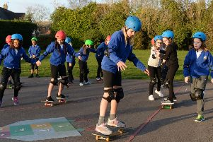 Newbottle and Charlton Primary School 5th and 6th year skateboarders. NNL-190801-162938009