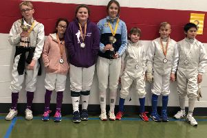 Some of the Chichester fencers at Hurstpierpoint