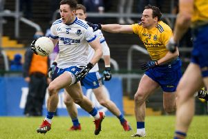 Roscommon's Niall Kilroy and Monaghan's Dessie Ward