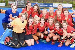 Banbridge Academy celebrate their win over Strathearn in the semi-final