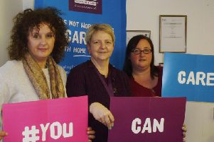 Staff from Home Instead Senior Care North Oxfordshire launch the You Can Care campaign
