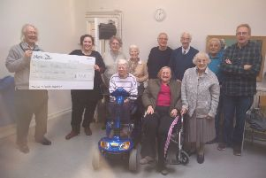 Banbury Nightingales present a cheque to the RVS Cornhill Centre NNL-191102-130618001