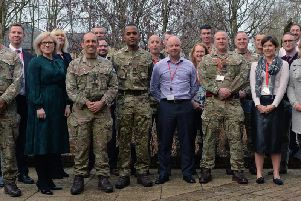 Bibby Financial Services welcome members of 262 (LSS) Signal Squadron, 15th Signal Regiment
