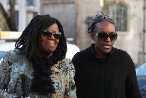Fiona Onasanya (right) arriving outside The Royal Courts of Justice where she unsuccessfully tried to challenge her conviction. Photo: Yui Mok/PA Wire