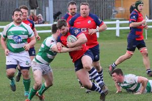 Jack Briggs tries to find a way through for Banbury Bulls at Salisbury. Photo: Simon Grieve