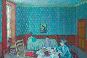 Gilman 49. Tea in the Bedsitter, 1916, oil on canvas, 71 x 92, Kirklees