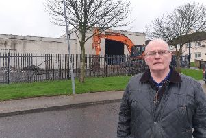 Sinn Fein Councillor Kevin Campbell at the site.