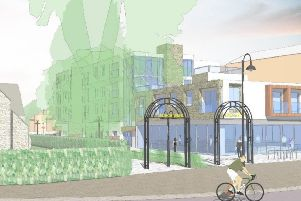 Artist's impression of the scheme looking out at The Broadway