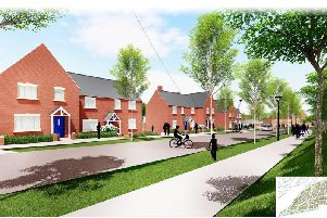 A computer-generated image of how the scheme off Turweston Road, Brackley, will look once completed. Photo: Catalyst