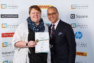 Jo Slesser's business won Theo Paphitis' 'Small Business Sunday' Twitter competition. Image supplied.